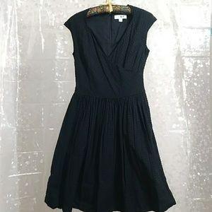 ISAAC MIZRAHI Black Lined Sleevless Dress